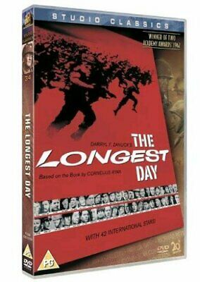 The Longest Day [1962] [DVD]  DVD ~ John Wayne  New Sealed