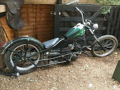 Old skool Chopper Motorbike Low Rider Easy Rider 125 cc Engine great project