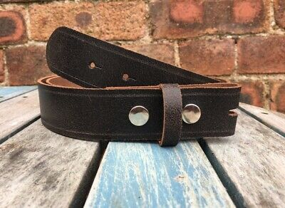 Toro Leather Press Stud Snap Belt Choice of Widths Hand Made 100% Real Leather