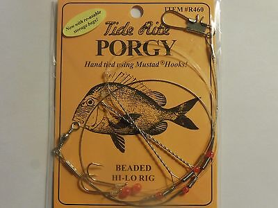 1 PORGY RIGS SCUP TIDE RITE R462 O/'SHAUGHNESSY RIG SALTWATER  FISHING MUSTAD