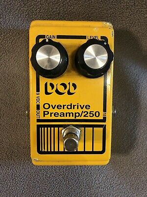 vintage dod od250 overdrive preamp effects pedal