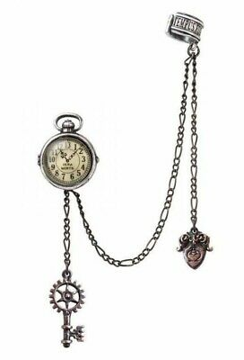 Alchemy England - Uncle Albert's Timepiece Earring Cuff Steampunk Key Clock Gift