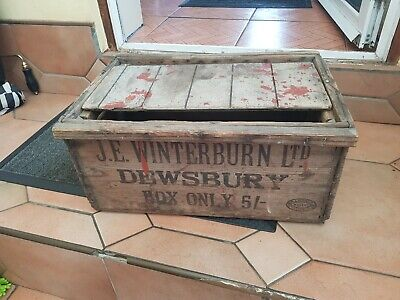 Vintage Wooden Crate Box From Dewsbury