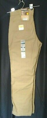 NWT CARHARTT MEN Pants Rugged Flex Rigby Dungaree 3332 Relaxed Fit Cell Pocket