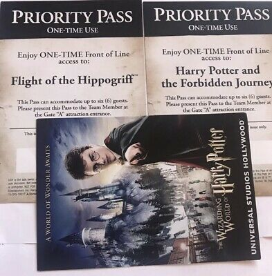 Universal Studios Hollywood Priority Pass Harry Potter and The Forbidden journey