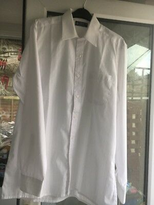 Vintage St Michael White Shirt Size Large 15.5 Collar With Glossy X Design