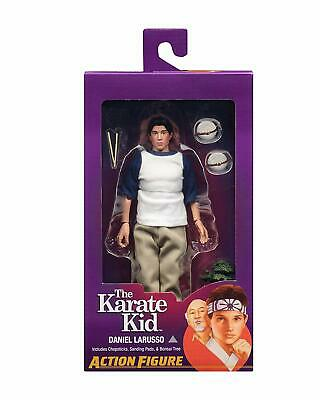 "NECA Karate Kid 8"" Clothed Doll Figures set of 3 - Daniel Mr Miyagi and Johnny"