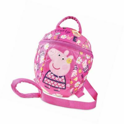 Peppa Pig Backpack with Reins – Toddler Baby Kids Girls detachable safety for pa