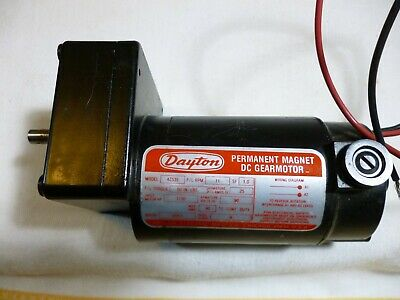 Dayton Model 4Z535 DC Gear Motor 11 RPM 1/30 hp 90VDC