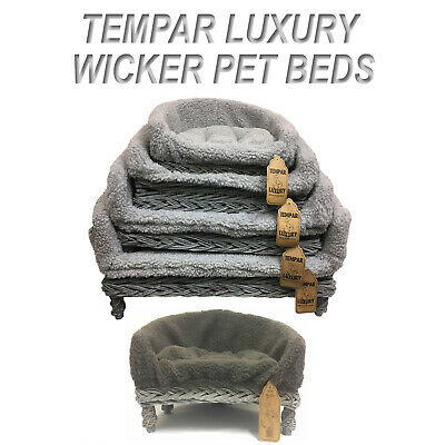 Fantastic New Grey Wicker Pet Sofa Bed Cat Dog Puppy Raised Couch Andrewgaddart Wooden Chair Designs For Living Room Andrewgaddartcom