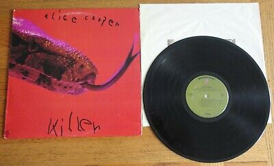 "Alice Cooper  ""Killer"" Original Green Label  1971 Play Tested   LP Record"