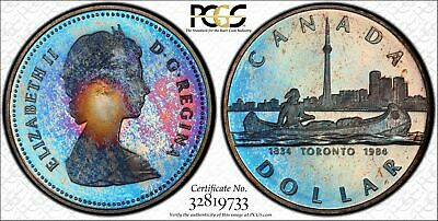 1984 $1 Canada Toronto Commemorative Dollar Gorgeous Toned Gem PCGS PR68DCAM