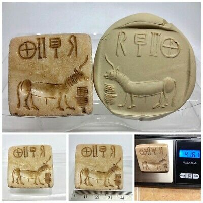 (40 mm)Ancient Unique Indus valley GOAT  Seal Intaglio  inscription stone stamp