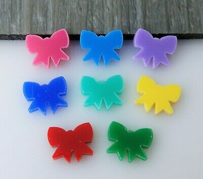 4pc 12mm Bowtie Cabochon Acrylic Shape Dress Hairbow for Jewelry & Craft  AC9