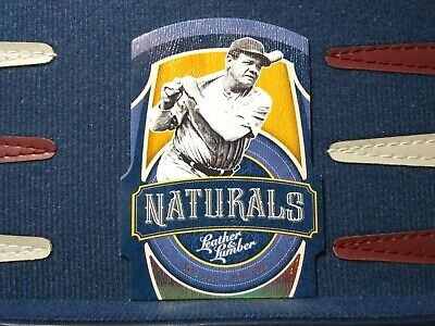 2019 Panini Leather and Lumber Naturals #10 Babe Ruth Holo Gold #d 02/10 Yankees