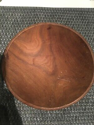 Vintage Wooden Primitive Small oval bowl - Nice Wood Grain- Carved?