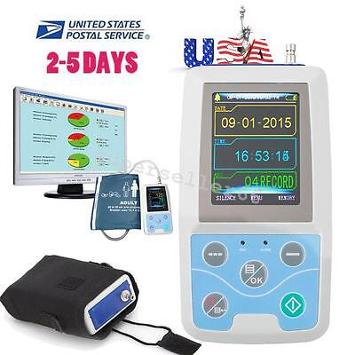 CONTEC 24h Ambulatory Blood Pressure Monitor ABPM Holter ECG Systerm+Adult Cuff