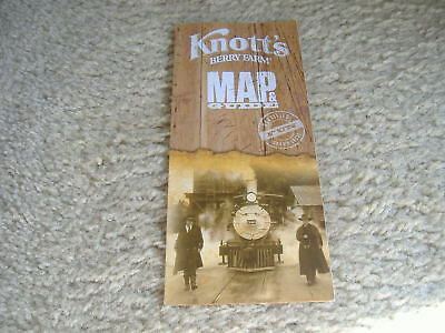 Knotts Berry Farm Theme Park Guide And Map 2013 Cedar Fair  New