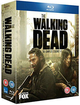 The Walking Dead (Complete Seasons 1-5) NEW Cult Blu-Ray 20-Disc Set A. Lincoln