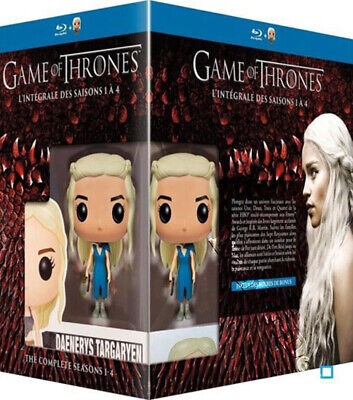 Game of Thrones Complete Season 1-4 NEW Blu-Ray 19-Disc Set Daenerys FUNKO Figur