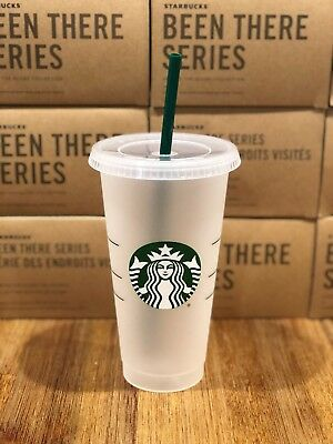 Starbucks Mermaid Siren Logo Reusable Frosted Cold Cup Coffee Tea Tumbler 24 oz