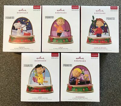2018 Hallmark PEANUTS STORYTELLERS Ornament COMPLETE SET of 5