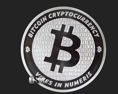 BITCOIN 1 oz .999 SILVER Commemorative Coin BTC in CAPSULE Consensus Crypto