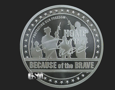 *FREE Gift*Home of the Free, 1oz .999 Solid SILVER Coin Military Veteran-Capsule