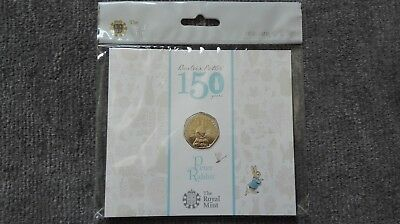 2016 Beatrix Potter Peter Rabbit 50p Fifty Pence Coin Pack by the Royal Mint