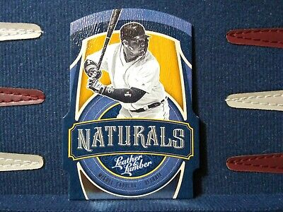 2019 Panini Leather & Lumber Die Cut Naturals Miguel Cabrera #N6 Detroit Tigers