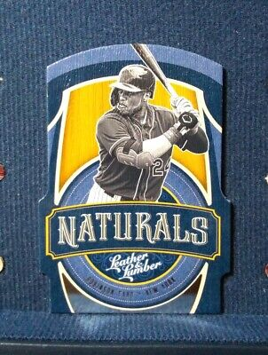 2019 Panini Leather & Lumber Die Cut Naturals Robinson Cano #N-5 New York Mets