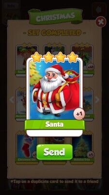 Coin Master Card 1x Santa Fast Delivery