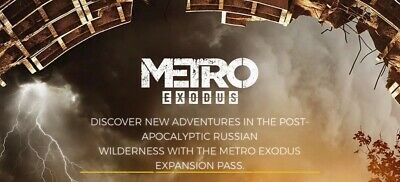 METRO EXODUS PS4 Expansion Pass, Brand NEW Unused DLC code ***Read Listing***