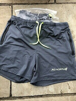 New Jed North Men's Fitted Shorts Bodybuilding Workout Gym Running Lifting Large