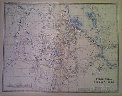 Map of ABYSSINIA c1869 A K Johnston Royal Atlas, Original engraved, Large Folio