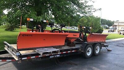 4 curtis sno-pro 3000 snow plow poly plow -fits several smaller trucks  univeral