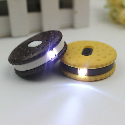 Cookie Bright Mini LED Keyrings Kids Camping Flashlight Torch Portable KeyChain