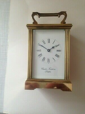Beautiful Charles  Frodsham  London Carriage  Clock In A  Brass
