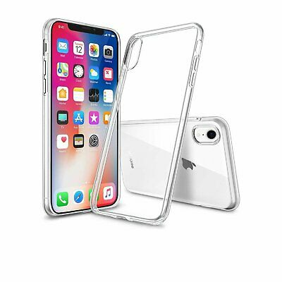 For iPhone XR Clear Case Ultra-thin Shockproof Transparent Soft Protective Cover