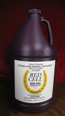 1 Gal Red Cell Vitamin Rich Iron Supplement for Horses 1 Gallon