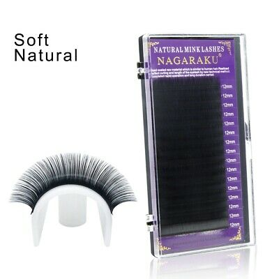 faux mink eyelash extensions individual eyelashes false fake B C D Curl NAGARAKU