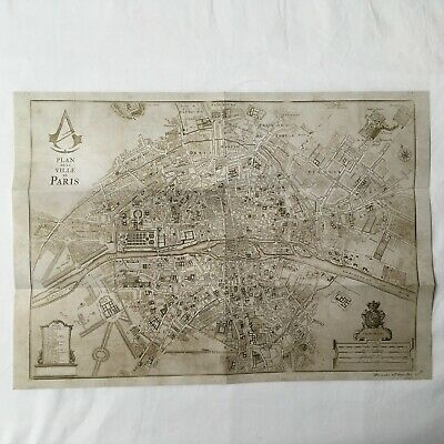 Assassin S Creed Unity Map Of Paris Collector Edition New