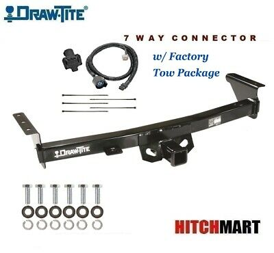 fits 2005-2017 nissan frontier w factory tow pkg  trailer hitch & 7 way