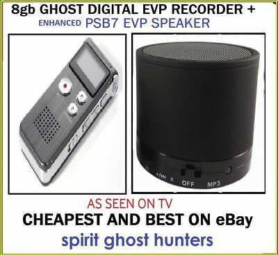 8Gb Evp Spirit Hunting Digital Recorder + Ghost Psb7 Paranormal Speakers