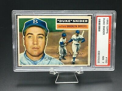 1956 Topps Baseball Duke Snider Hof Psa Nm 7 (Gray Back) #150 Brooklyn Dodgers