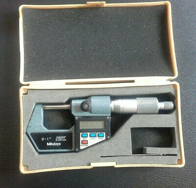 "Mitutoyo 0-1"" 0-25mm digital micrometer number 293-761. Superb condition."