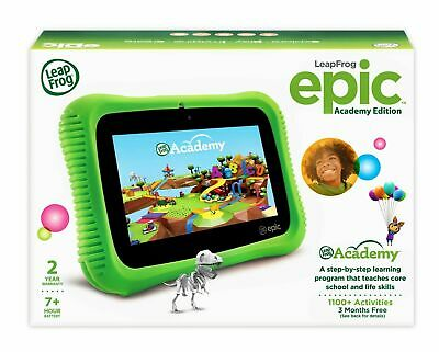 LEAP FROG EPIC Academy Edition Learning Tablet Green with Activation Code  SEALED