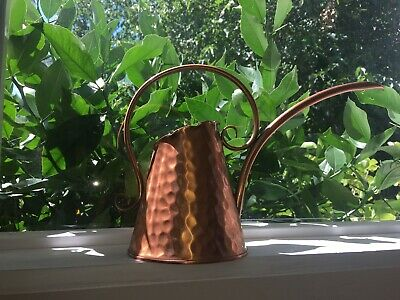 Vintage Hand Hammered Gregorian Copper Watering Can Solid Copper. Made in USA.
