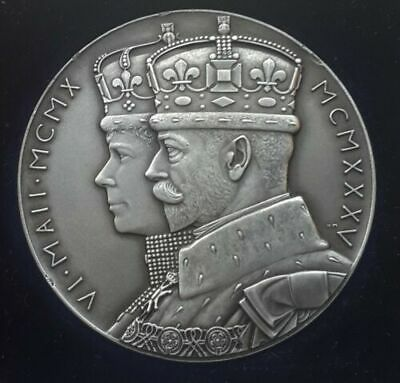 Xrare Boxed 1935 Silver Jubilee 1910-1935 Medallion In Extremely Fine 56 Mm