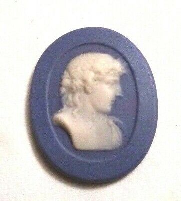 Antique Blue Alexander the Great David WEDGEWOOD Wedgwood like Oval Cameo #H29A